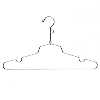 Metal hanger with loop